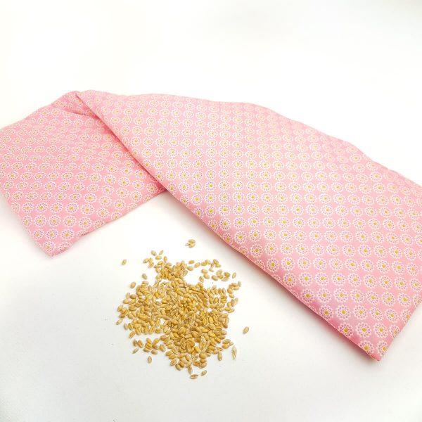 Pittenzak XL -Nekkussen - Roze geel bloem