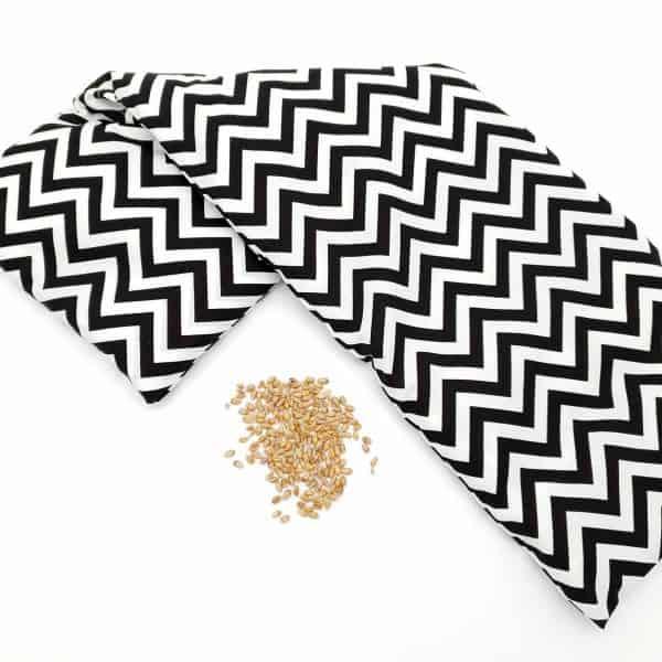 Pittenzak extra lang zwart wit zigzag