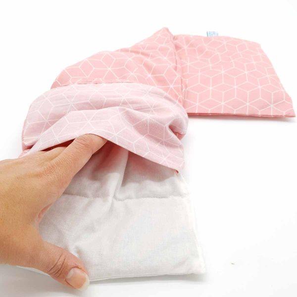 pittenkussen XL oud roze
