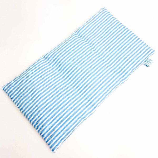 Pittenzak warmtekussen coldpack blauw streep