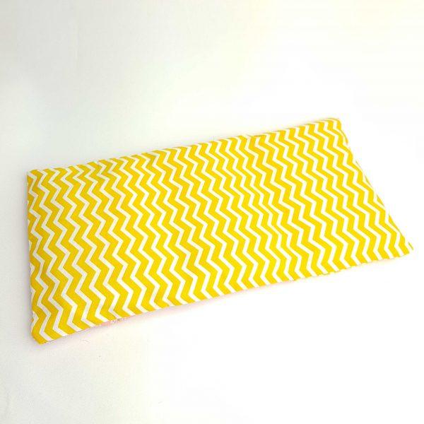 Pittenzak warmtekussen en coldpack geel zigzag