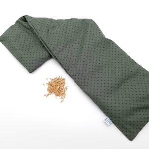 Pittenzak langwerpig groen met stippen